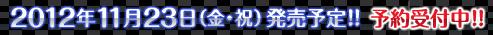 2012年11月23日(金・祝)発売予定!!予約受付中!!