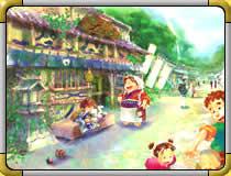 ナタネ村の風景