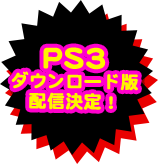 PS3ダウンロード版配信決定!